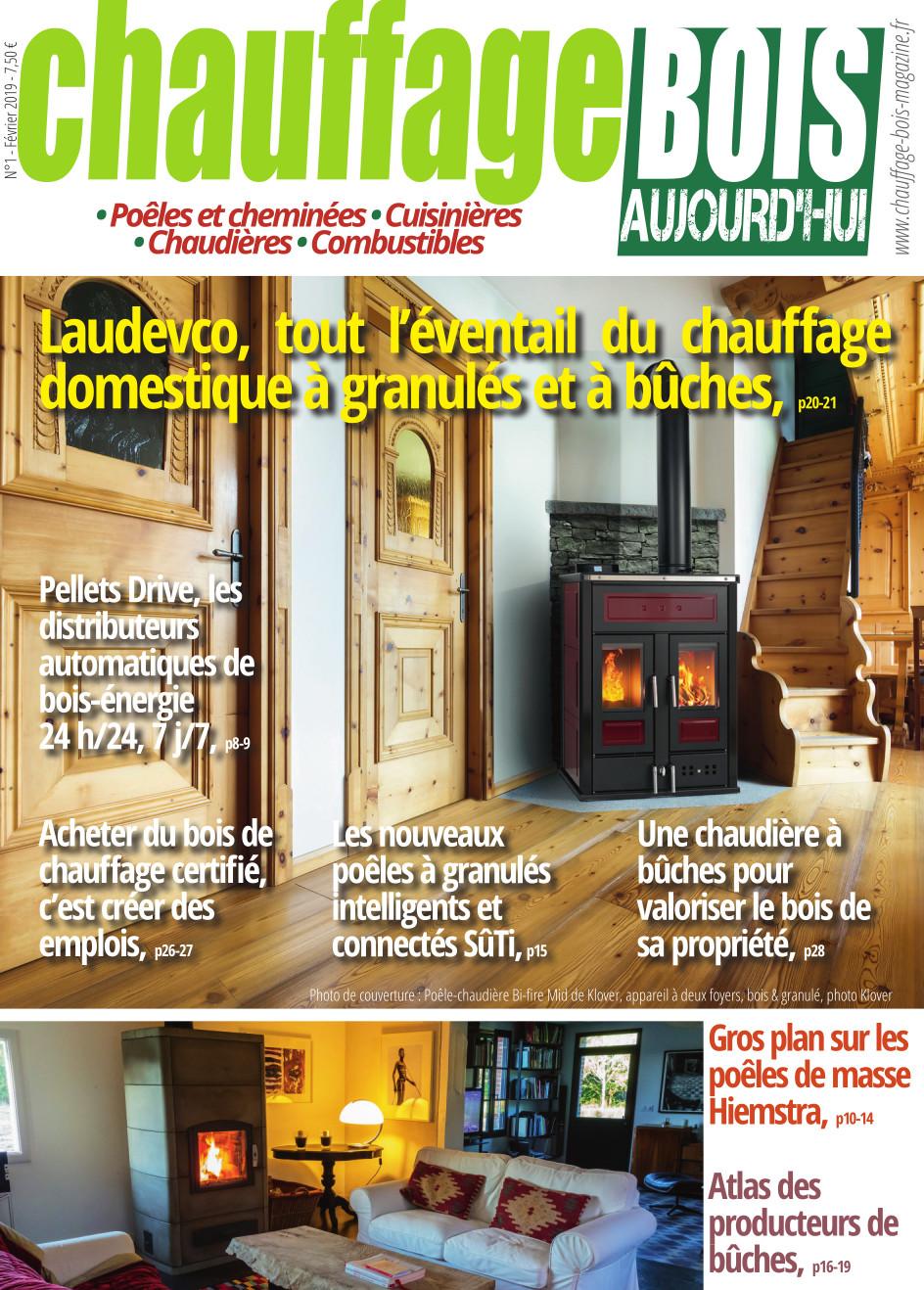Chauffage Bois n°1, le nouveau magazine du chauffage domestique au bois