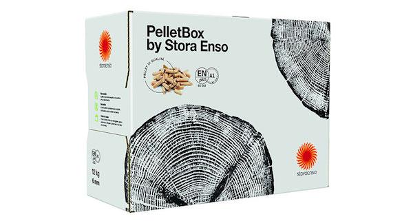Stora Enso teste la distribution des granulés de bois en petits cartons de 12 kg