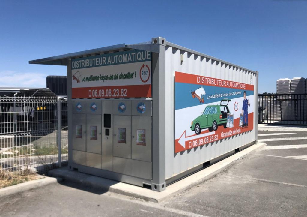 Innovative Vending Machines France commercialise des distributeurs automatiques de granulés de bois